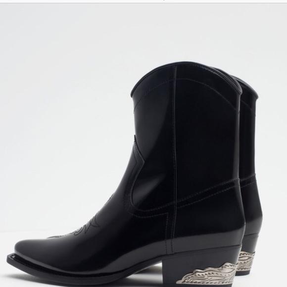 Price Firm Zara Metal Heel Boots